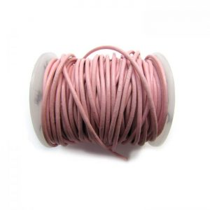 pink leather cord