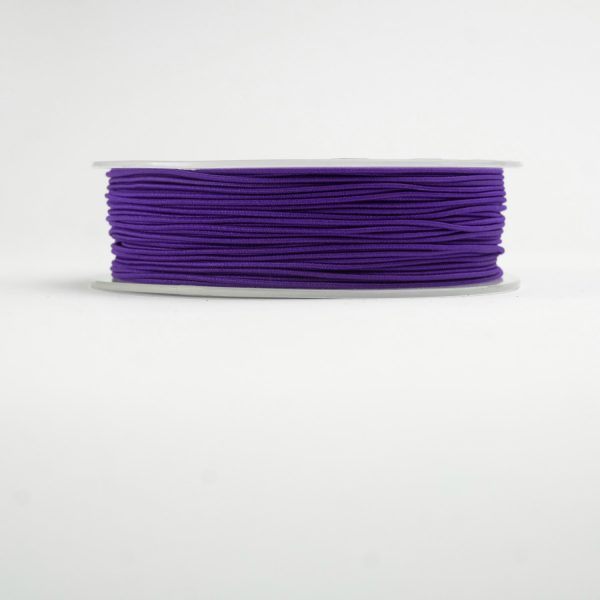purple material covered elastic