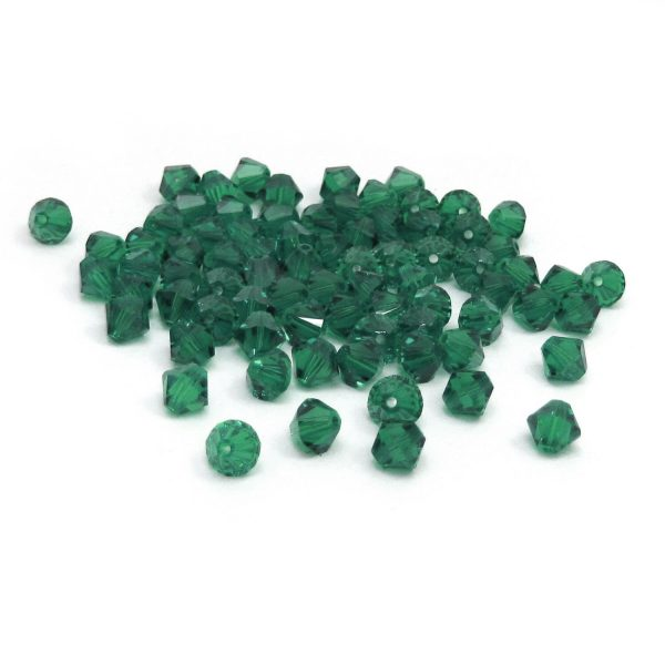 swarovski bicones – green tourmaline (group shot)