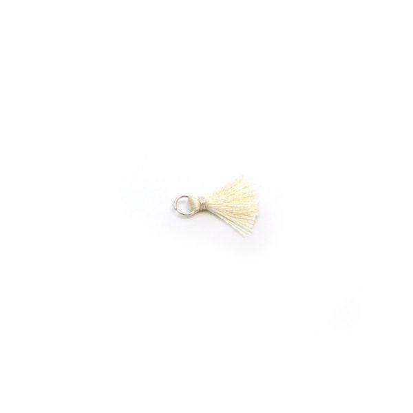 2cm cotton tassel with jump ring – Cream