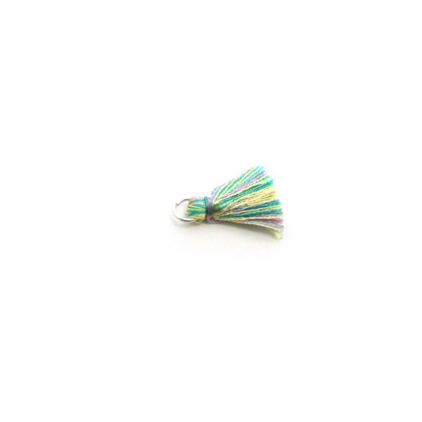 2cm Silk Tassels With Open Jump Ring – Mixed Multicolour