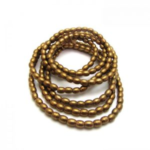 Barrel Metal Beads - Brass