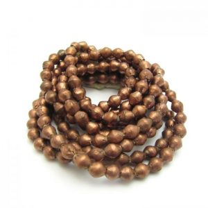 Bi-Cone African Metal Beads - Copper