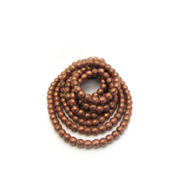 Round African Metal Beads – Copper