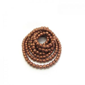 Round African Metal Beads - Copper