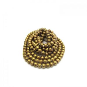Round African Metal Beads - Brass