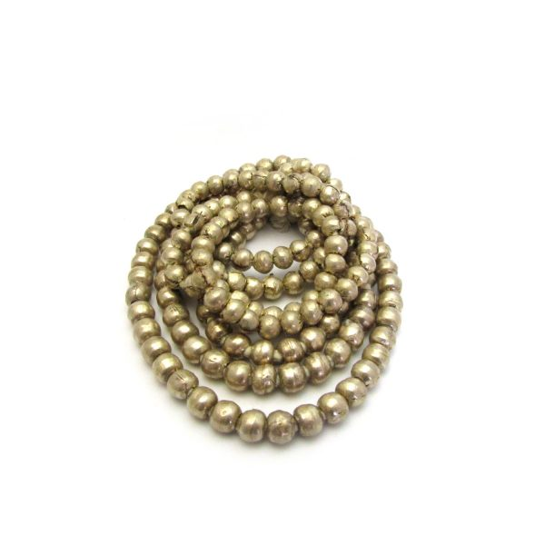 Round African Metal Beads – Silver