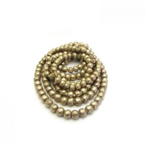 Round African Metal Beads - Silver