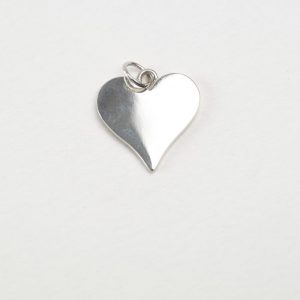 Sterling Silver Heart Shaped Tag