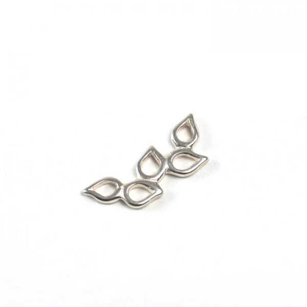 Sterling Silver Olive Branch Connector