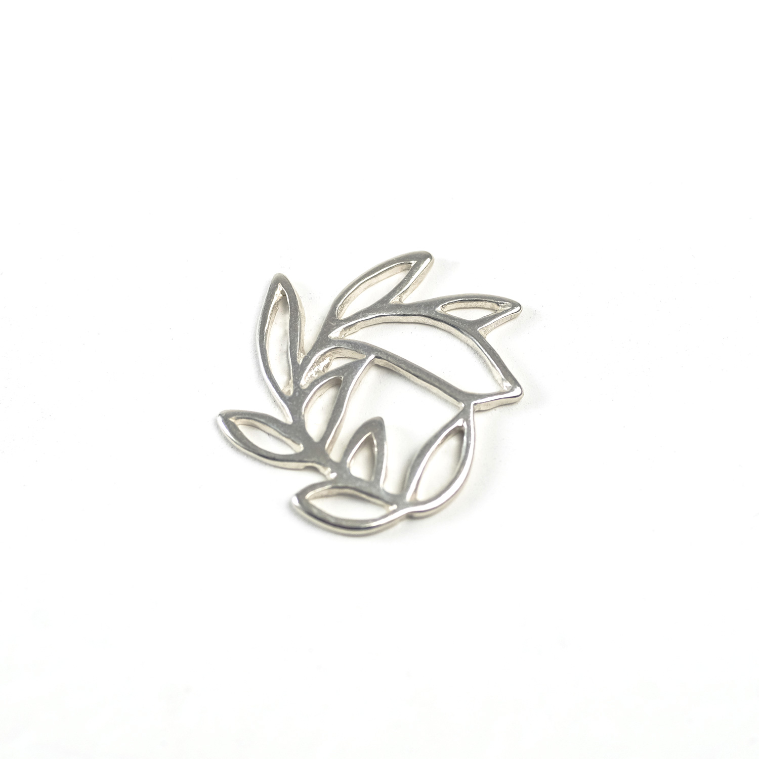 Sterling Silver Laurel Connector