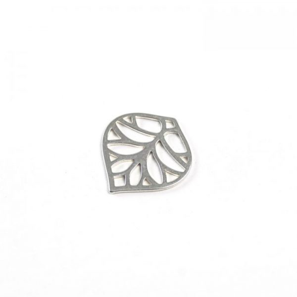 Sterling Silver Leafy Arabesque Connector