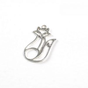 Sterling Silver Outlined Fox