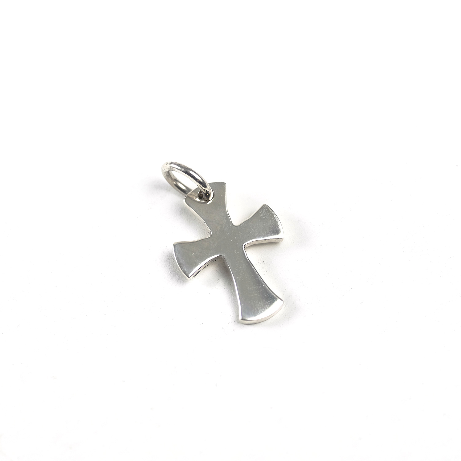 Sterling Silver Cross (Small, Flared)