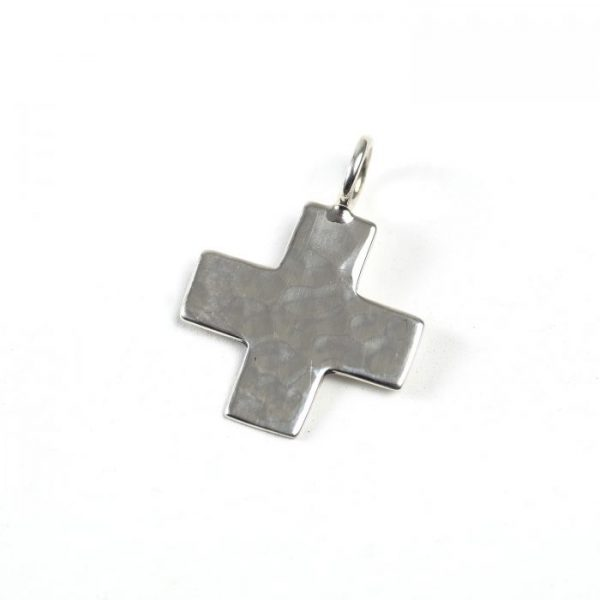 Sterling Silver Cross (Hammered)