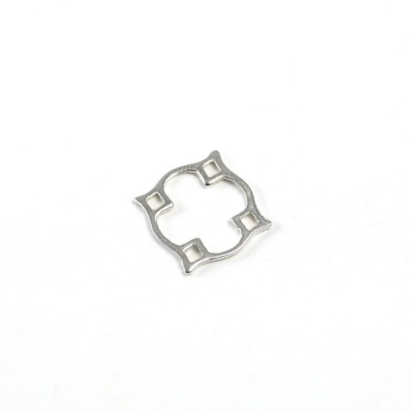 Sterling Silver Four Corner Connector
