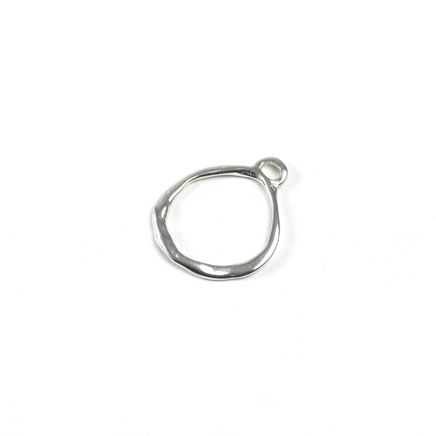 Sterling Silver Organic Circle