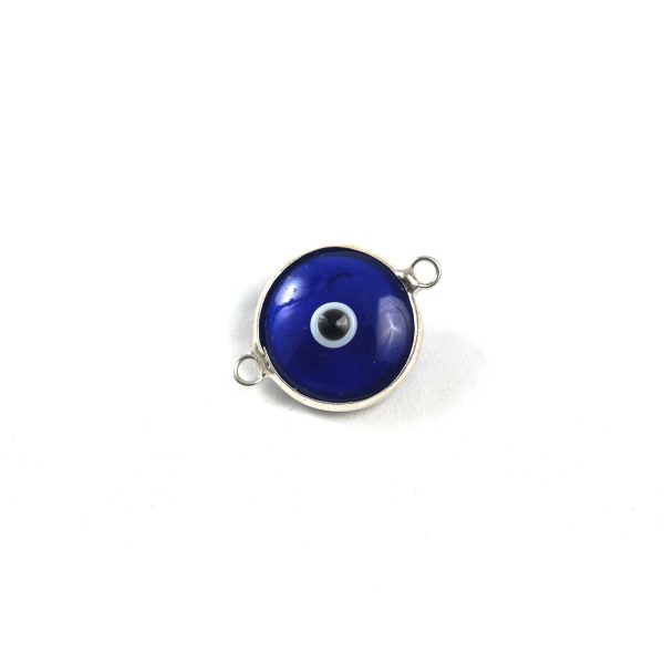 Sterling silver #152 Evil Eye Crystal Link