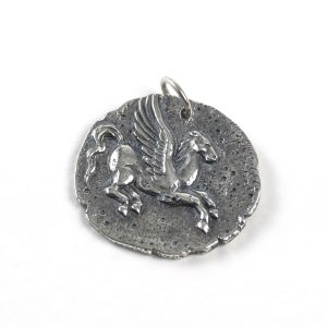 Sterling Silver Pegasus Coin Charm