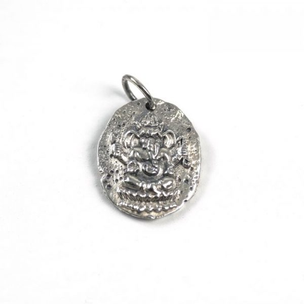 Sterling Silver Ganesh Coin Charm