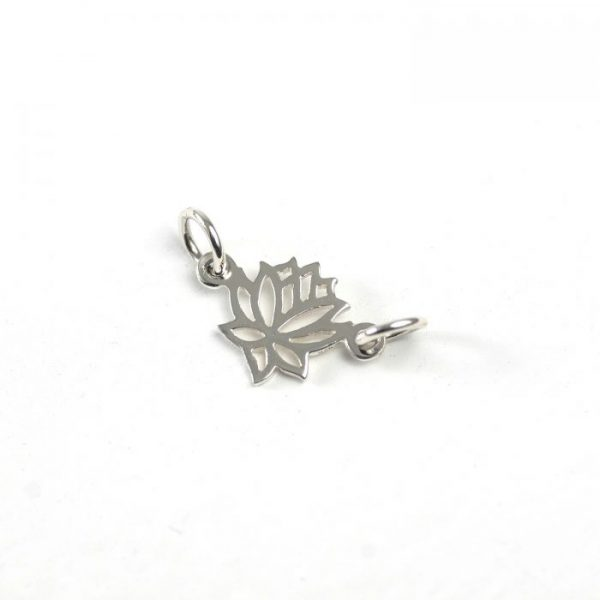 Sterling Silver Lotus Link (Outlined)