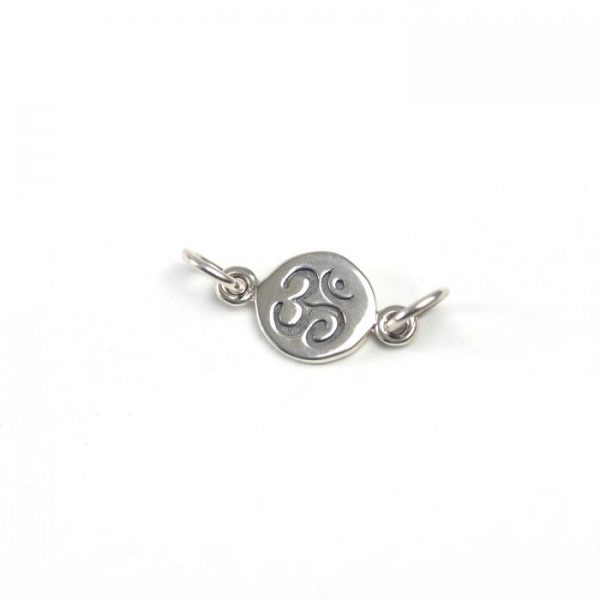 Sterling Silver Ohm Coin Link