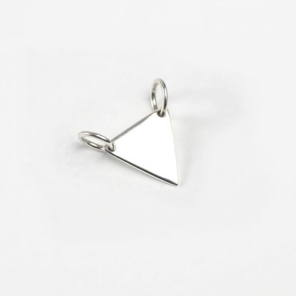 Sterling Silver Triangle Tag Link