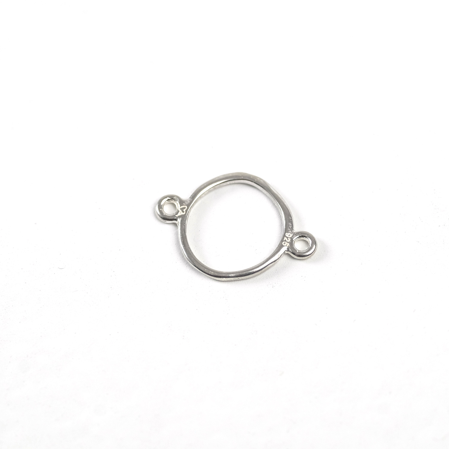 Sterling Silver Circle Link (Organic)