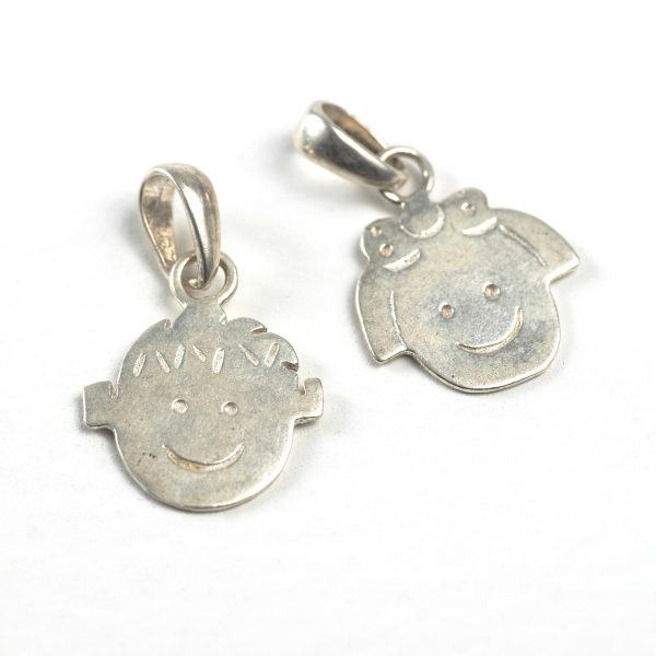 sterling silver child's face charm
