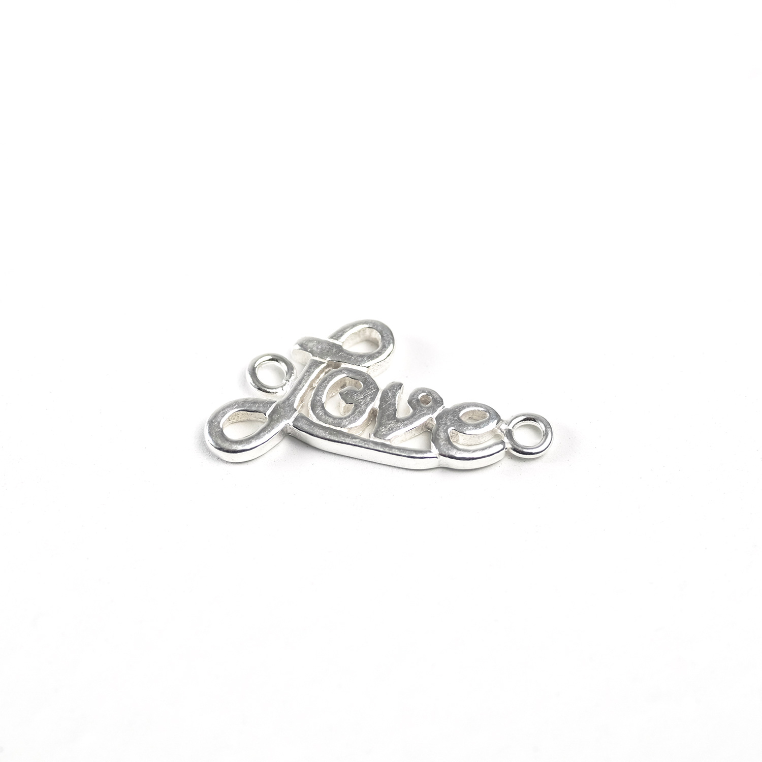 "sterling silver ""love"" link"