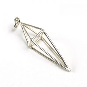 sterling silver geometric spike charm