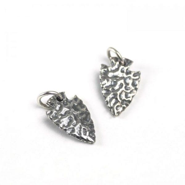 sterling silver arrowhead charm