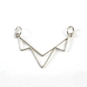 Sterling Silver Multi-Triangle Link