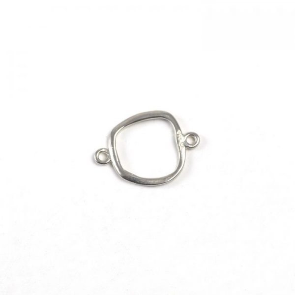 Sterling Silver Organic Square Link
