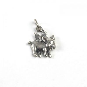 Sterling Silver Flying Pig
