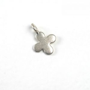 Sterling Silver Flower Tag (4-Petal)