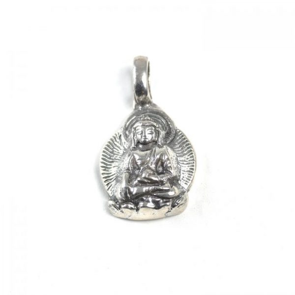 Sterling Silver Buddha with Aura