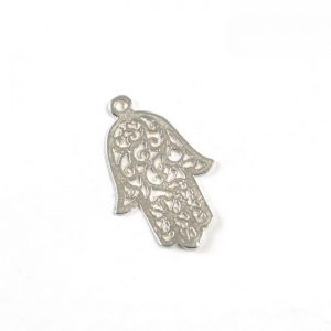 Sterling Silver Hamsa Hand (Large Filigree)