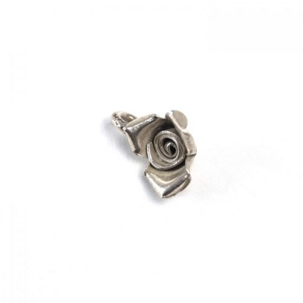 Sterling Silver Rose (3D) - side view