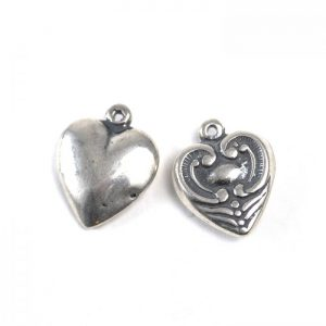 Sterling Silver Heart (Decorative) - both sides