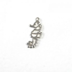 Sterling Silver Detailed Outlined Seahorse