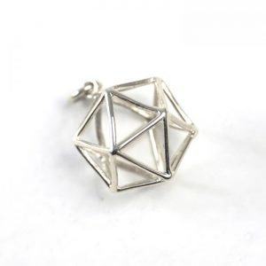 Sterling Silver Icosahedron