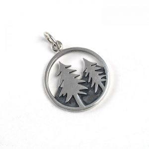 Sterling Silver Forest in Circle