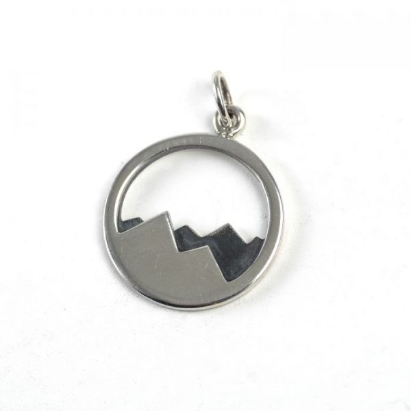 Sterling Silver Mountain in Circle
