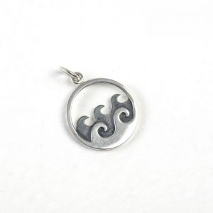 Sterling Silver Waves in Circle