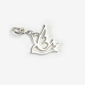 Sterling Silver Dove (Outlined)