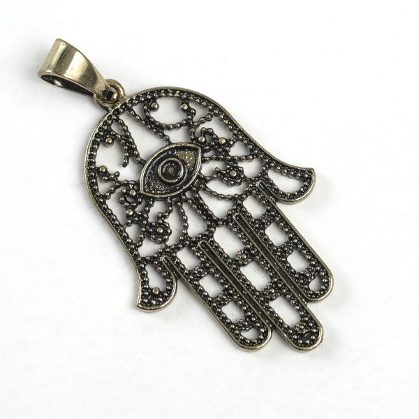 Hand of Fatima (large, outlined, brass)