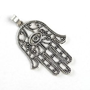 Hand of Fatima (large, outlined, silver color)