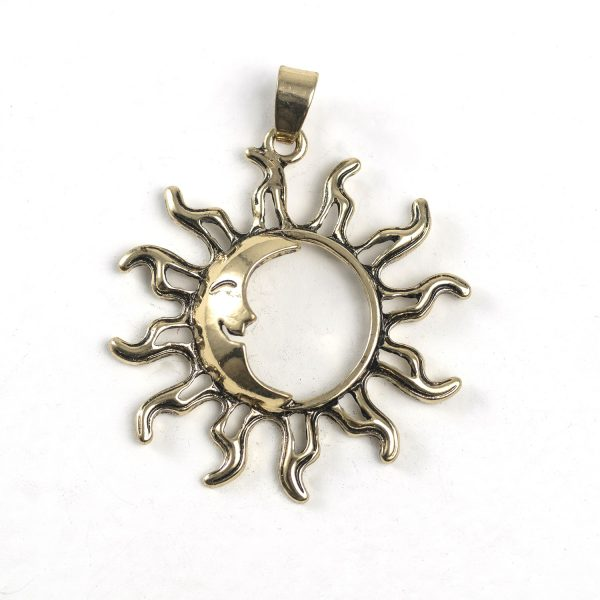 Sun with Moon (large, brass)