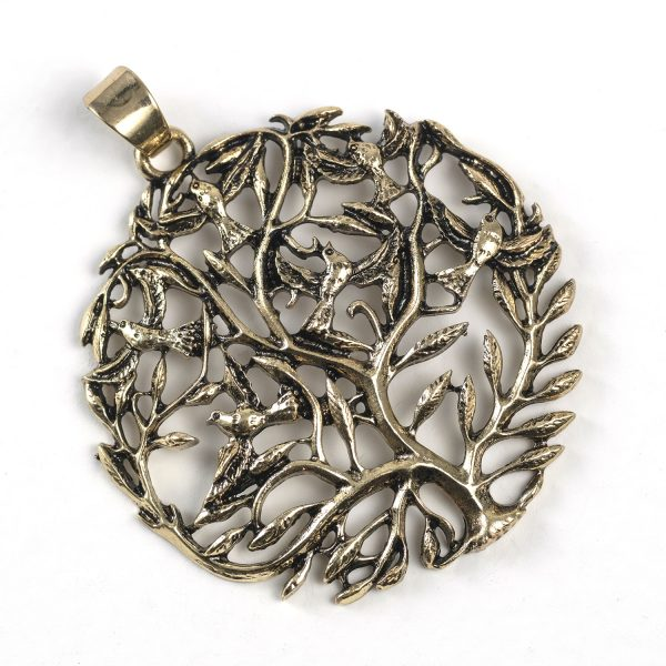 Tree with Birds (brass color)